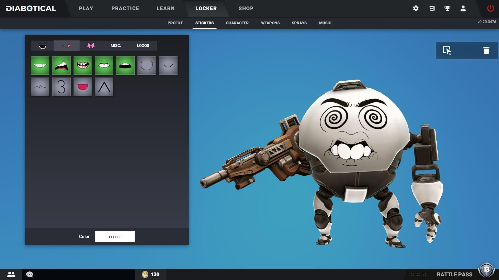 Diabotical Gameplay Character Creator Eggbot