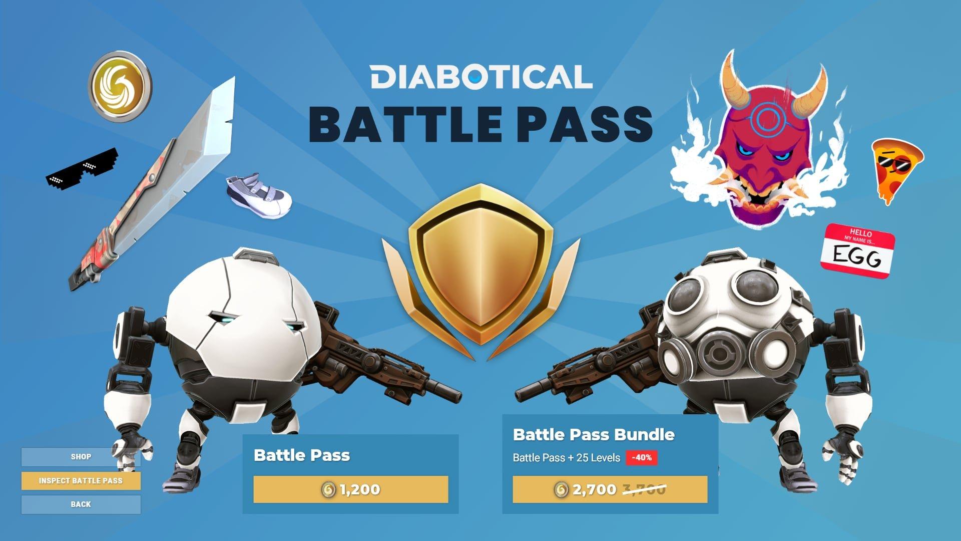Diabotical Gameplay Shop Battlepass