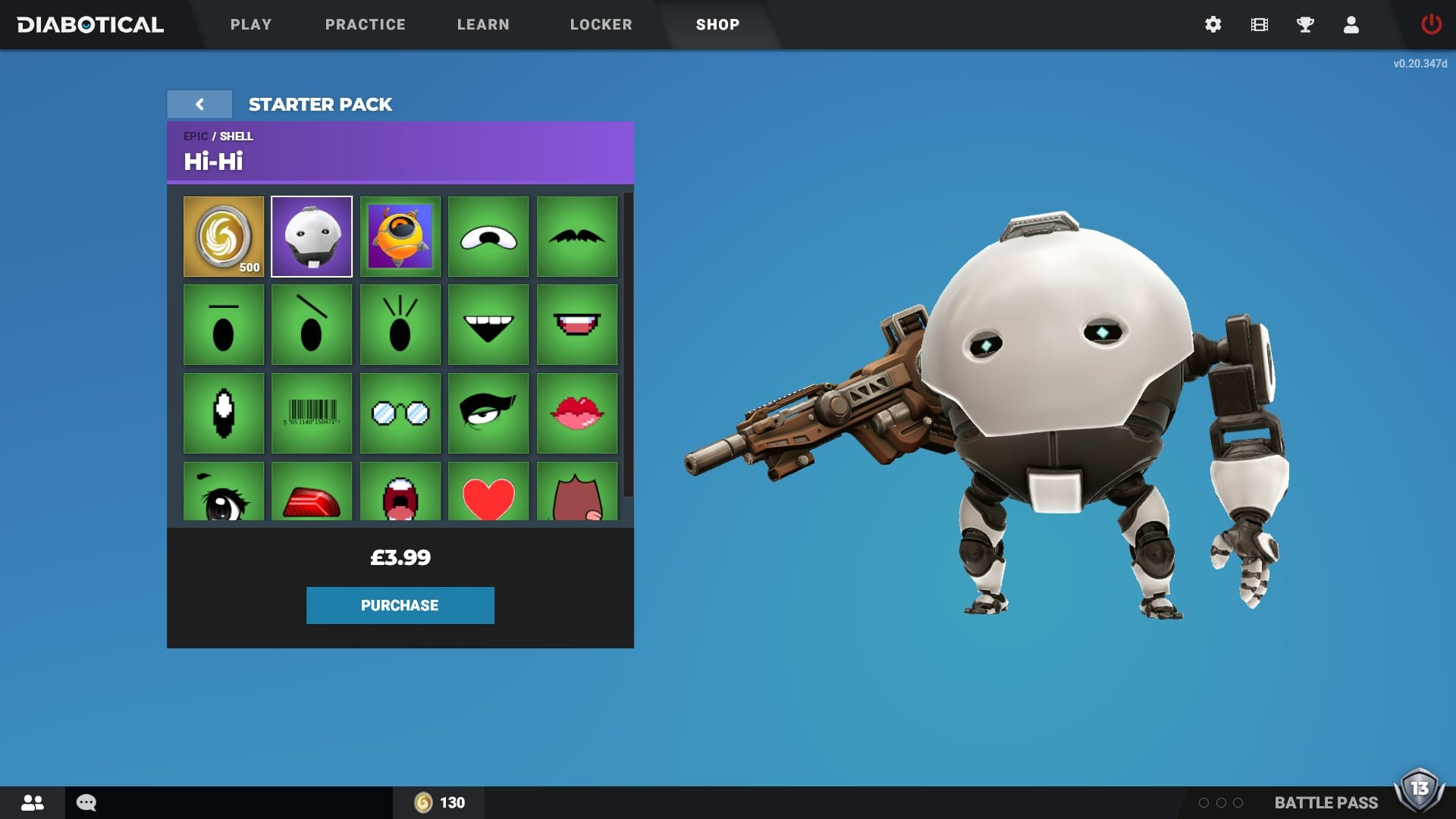 Diabotical Gameplay Shop Starter Pack