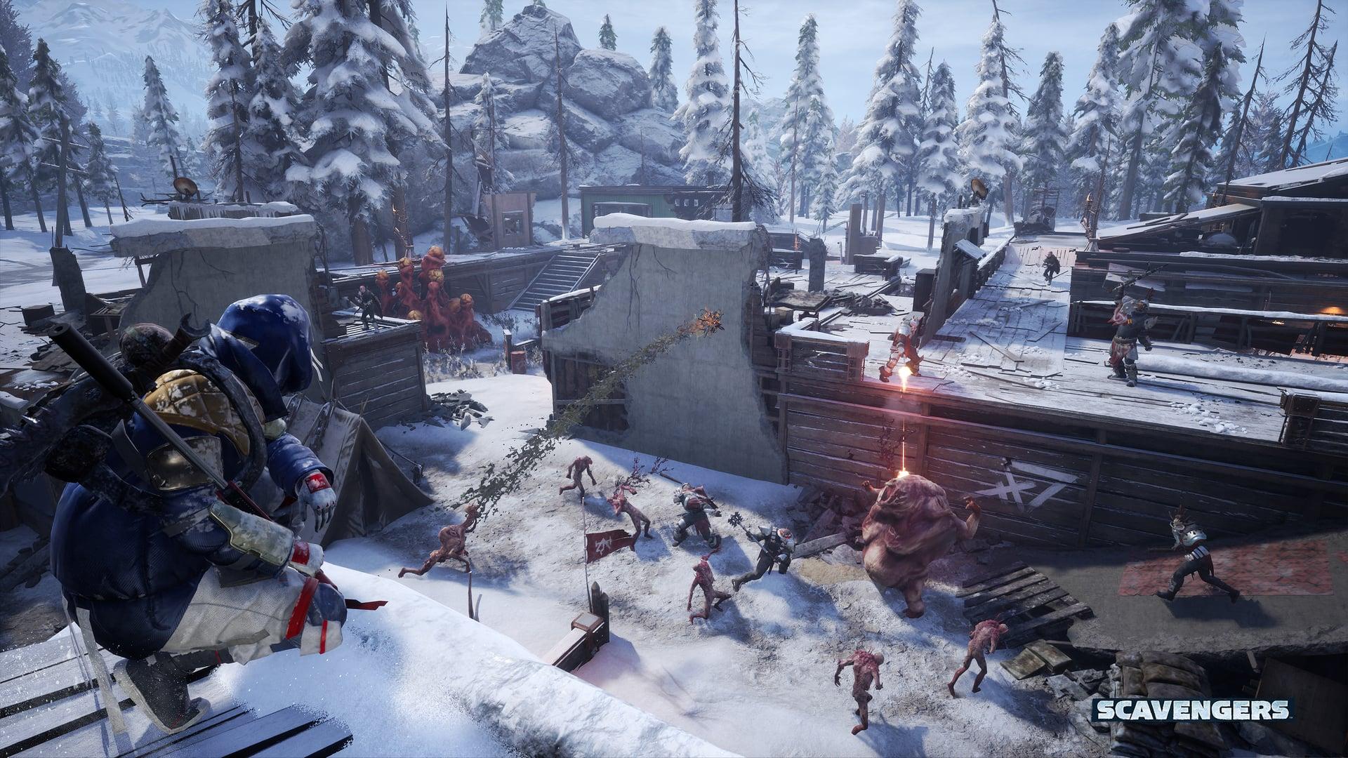 Scavengers Gameplay Screenshot Base Assault Mutants