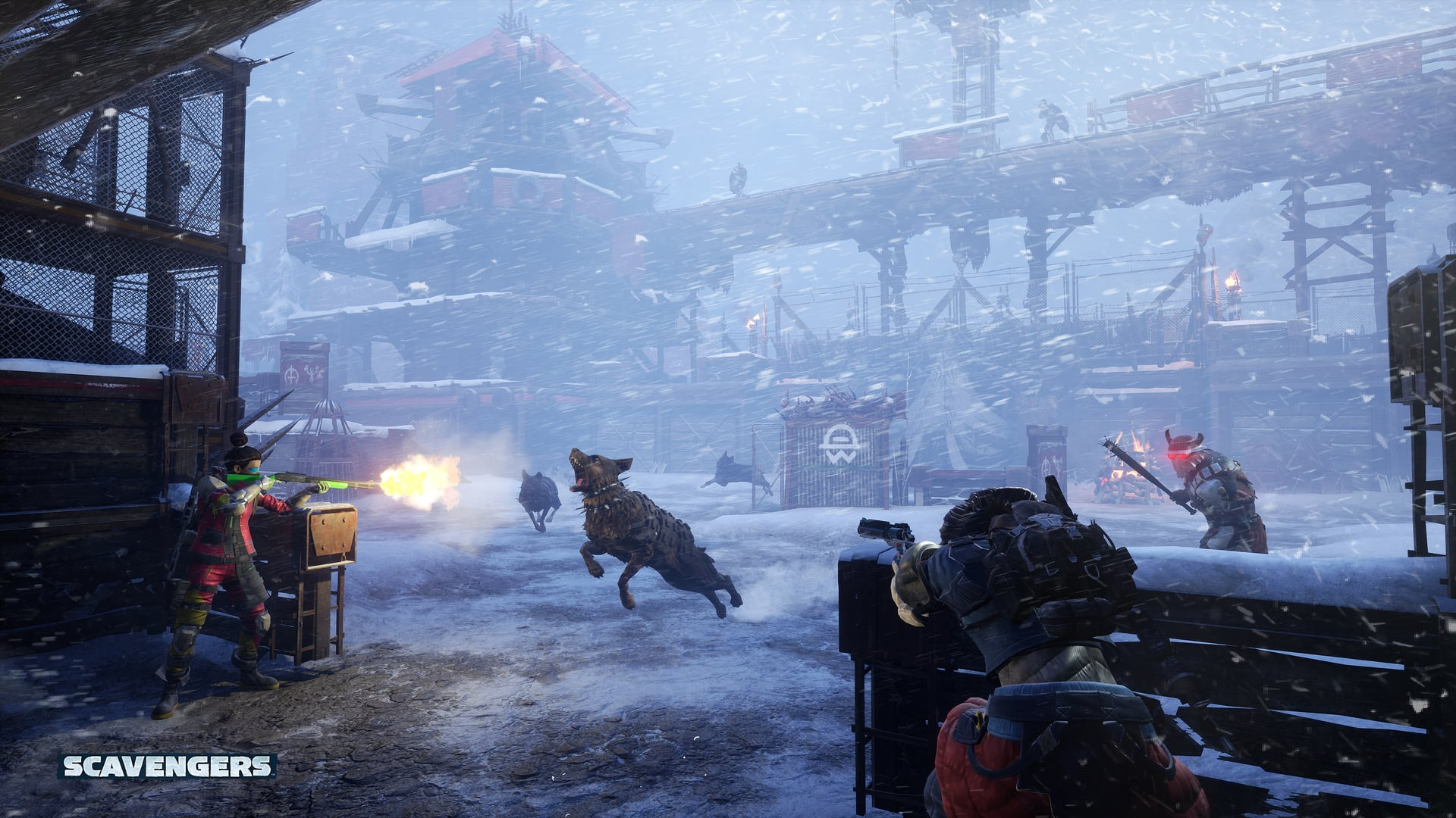 Scavengers Gameplay Screenshot Base Outlanders Dog