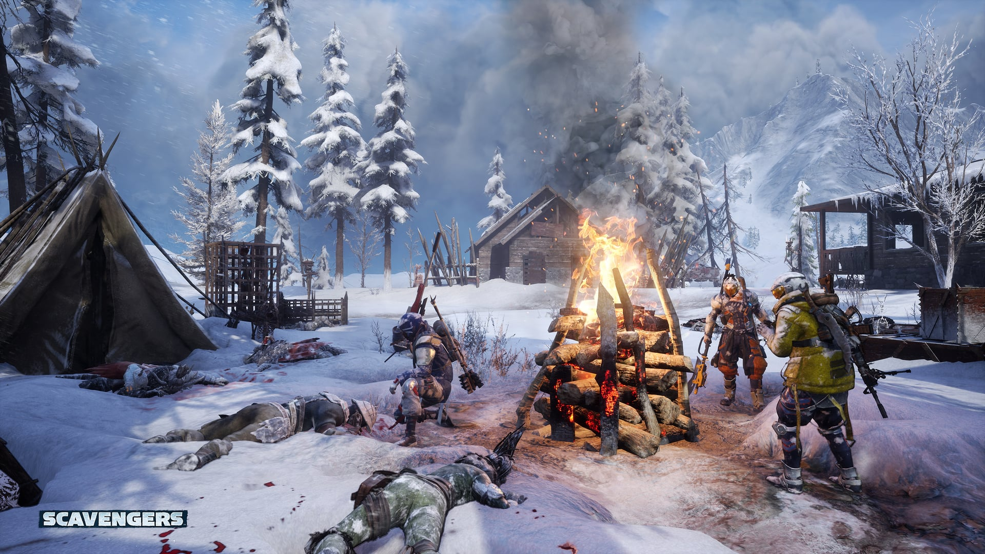 Scavengers Gameplay Screenshot Campfire Warm
