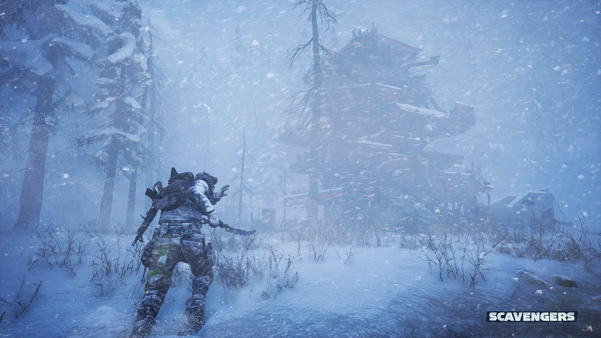 Scavengers Gameplay Screenshot Snow Elements